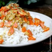 Arroz con curry de zanahoria