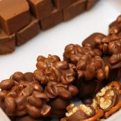 Rocas de chocolate y cereales