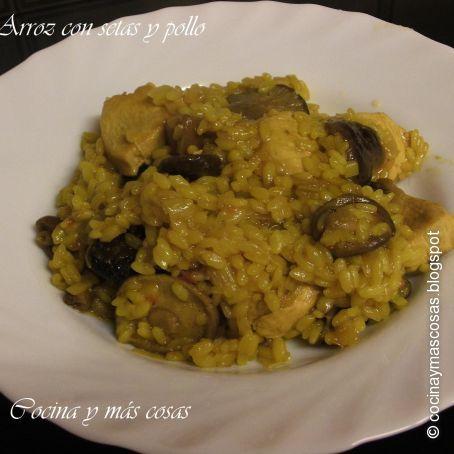 Arroz Caldoso Con Setas Y Pollo arroz con pollo y setas (2.9/5)
