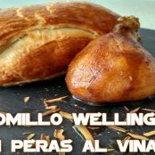 Solomillo Wellington con peras