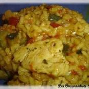 Risotto de pavo y curry