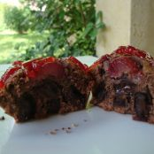 Muffins de chocolate y cereza