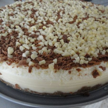 Tarta de chocolate blanco fácil