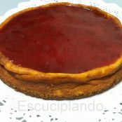 Tarta de queso con base de galleta
