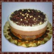 Tarta tres chocolates en Thermomix
