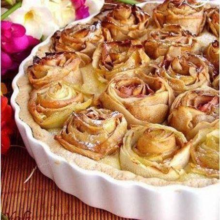 Tarta de manzanas en forma de rosa 4 1 5 for Apple pie decoration