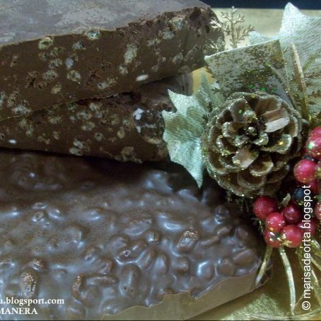 Turrón de chocolate en thermomix