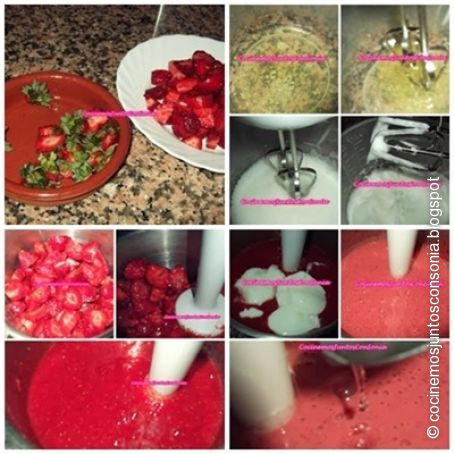 Mousse de fresa light