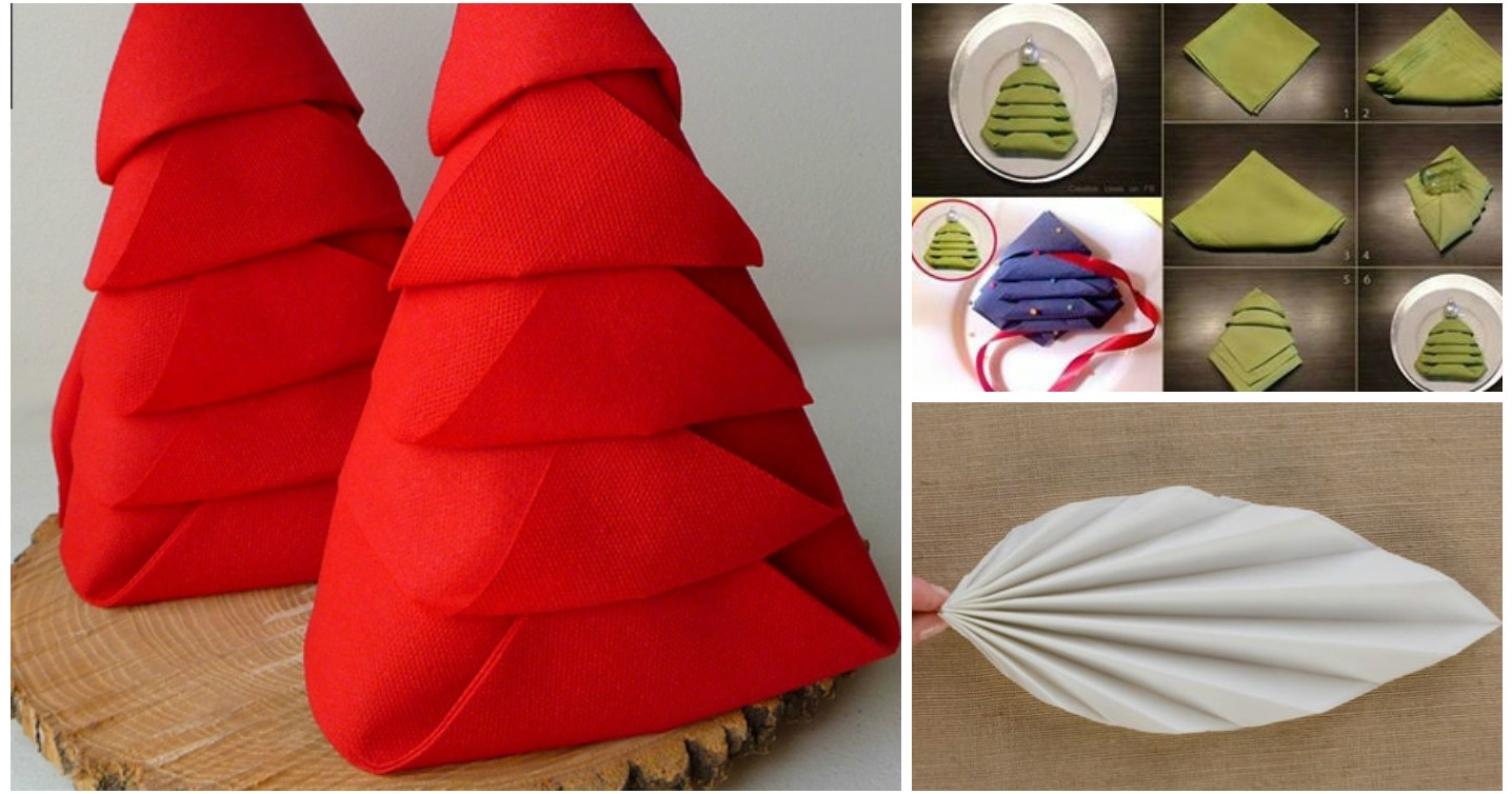 10 formas de doblar las servilletas para decorar la mesa - Doblar servilletas para navidad ...