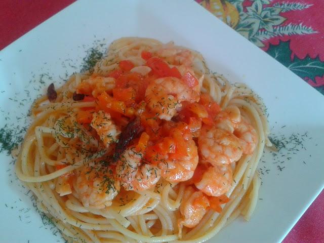 Espaguetis con gambas 5 5 - Espaguetis con chirlas ...