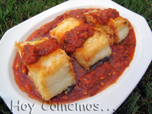 Bacalao con tomate y pimientos 3 8 5 - Bacalao fresco con tomate ...