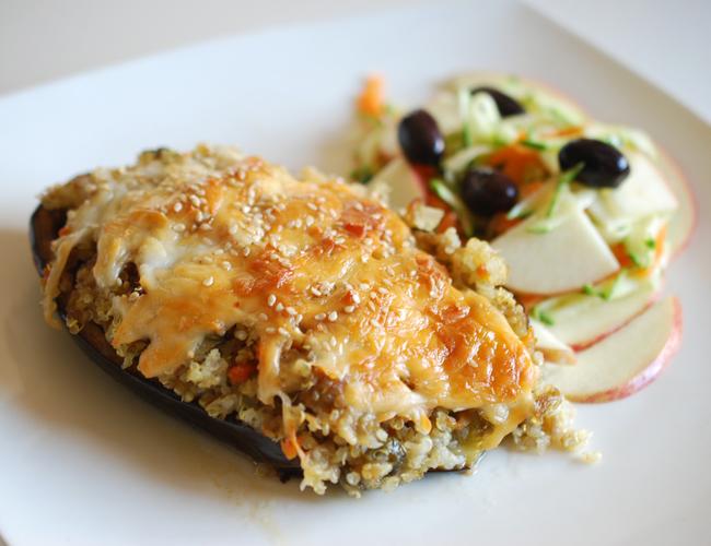 Berenjenas rellenas de verduras y queso 3 7 5 - Berenjenas rellenas al horno ...