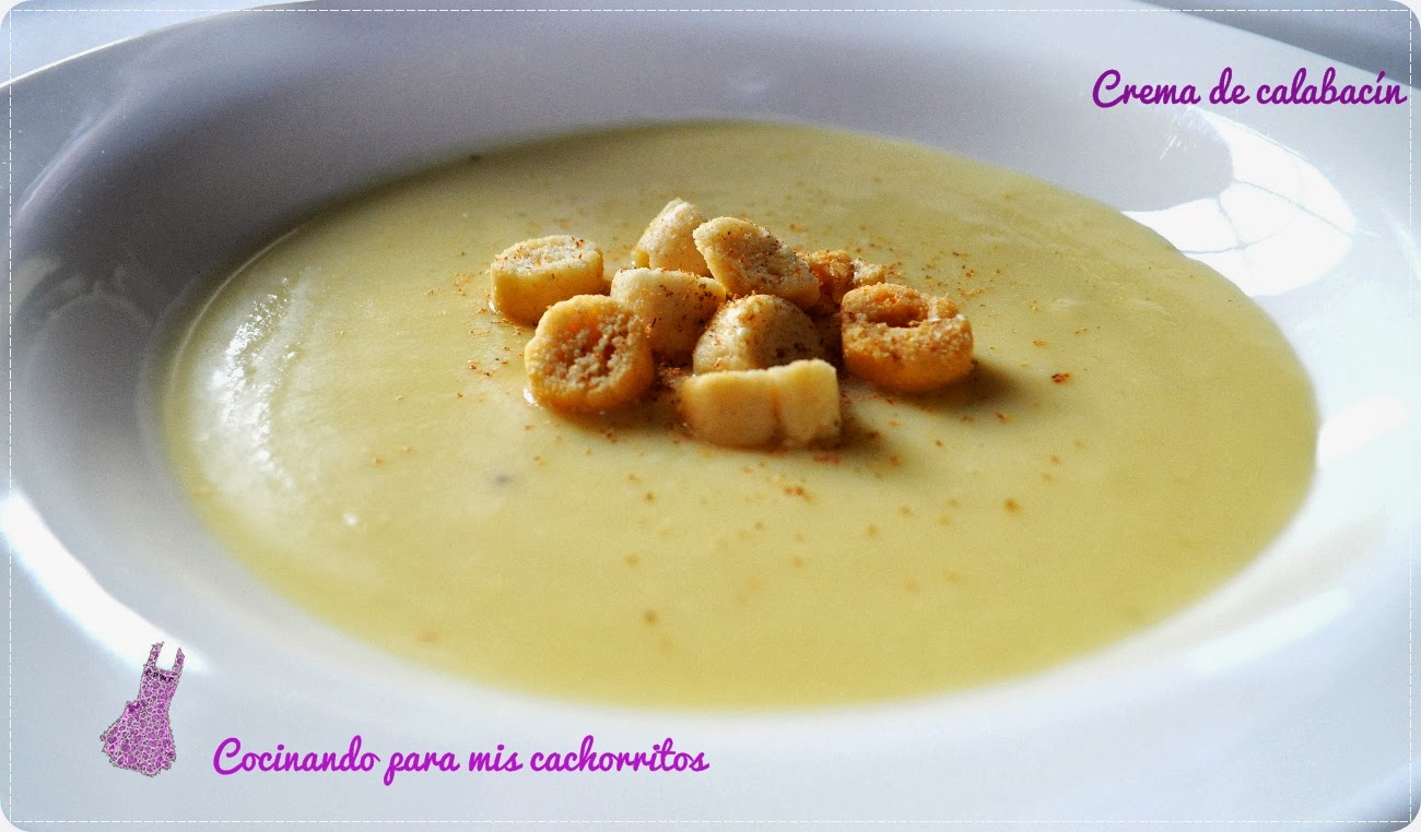 Crema De Calabacín Con Croutons 25