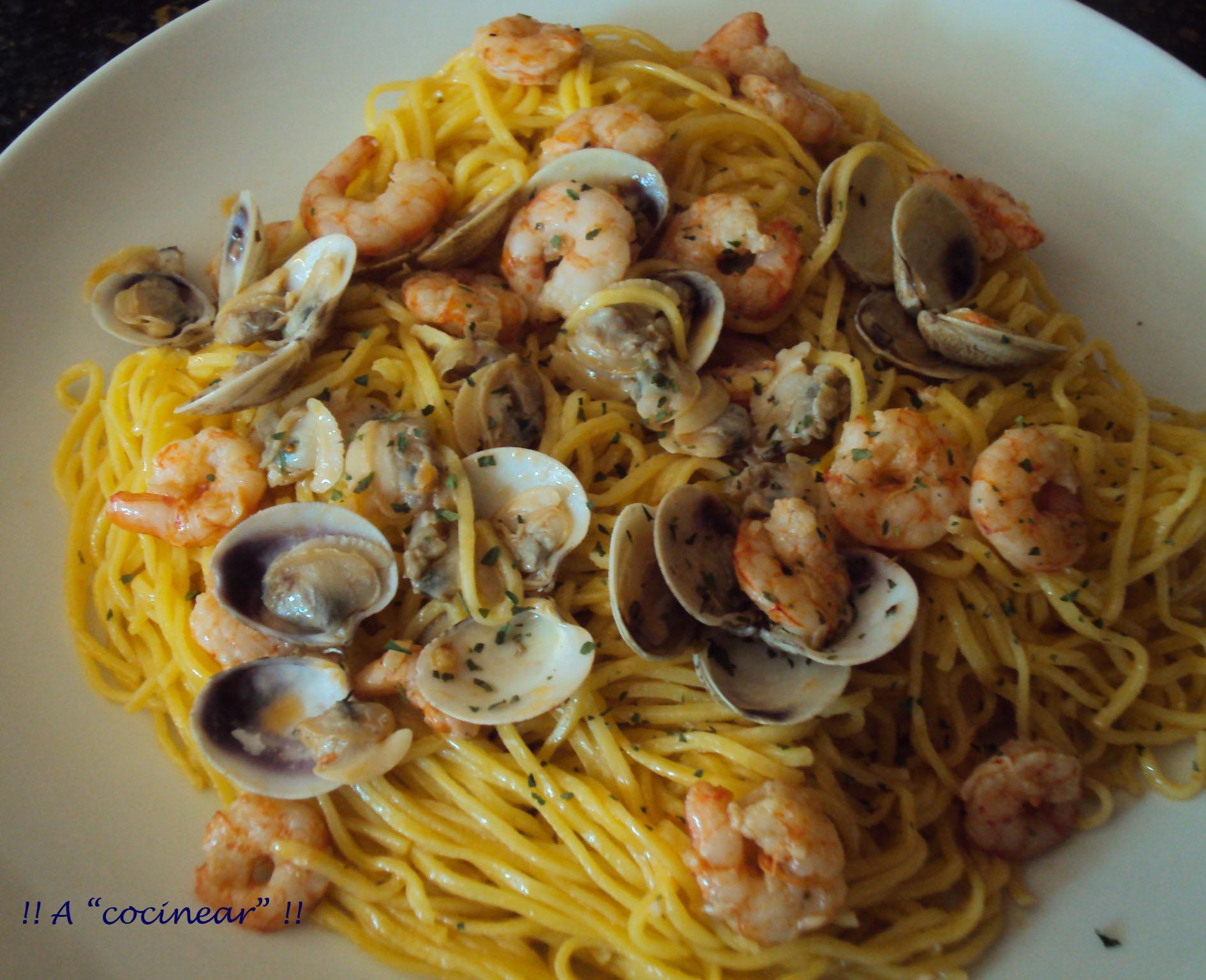 Espaguetis Con Almejas Y Gambas 3 4 5