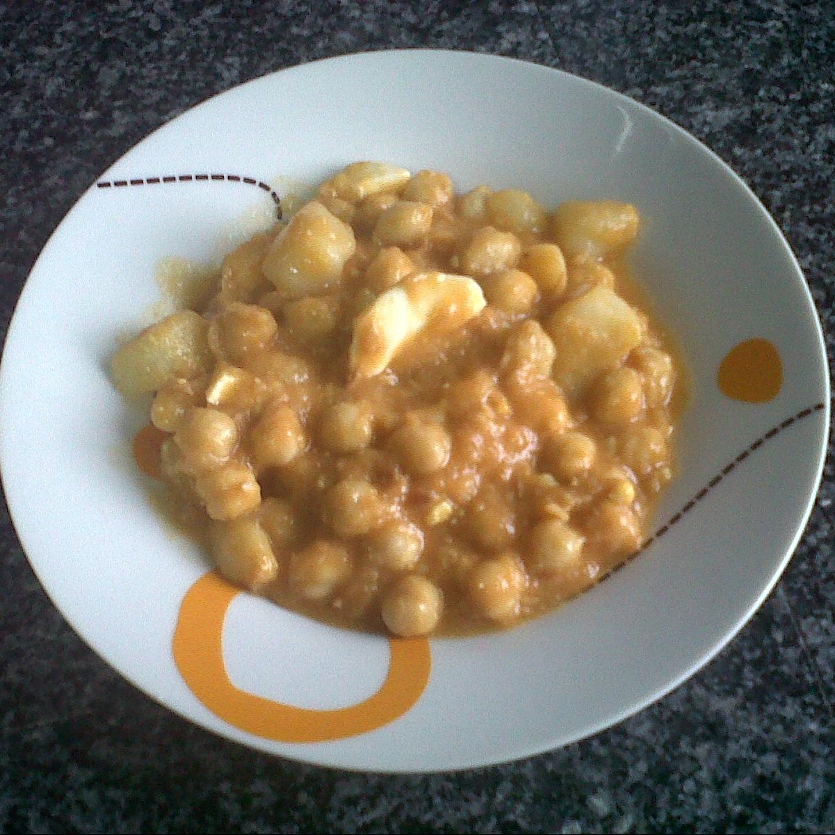 Garbanzos con at n y huevo cocido 4 3 5 - Garbanzos olla express ...