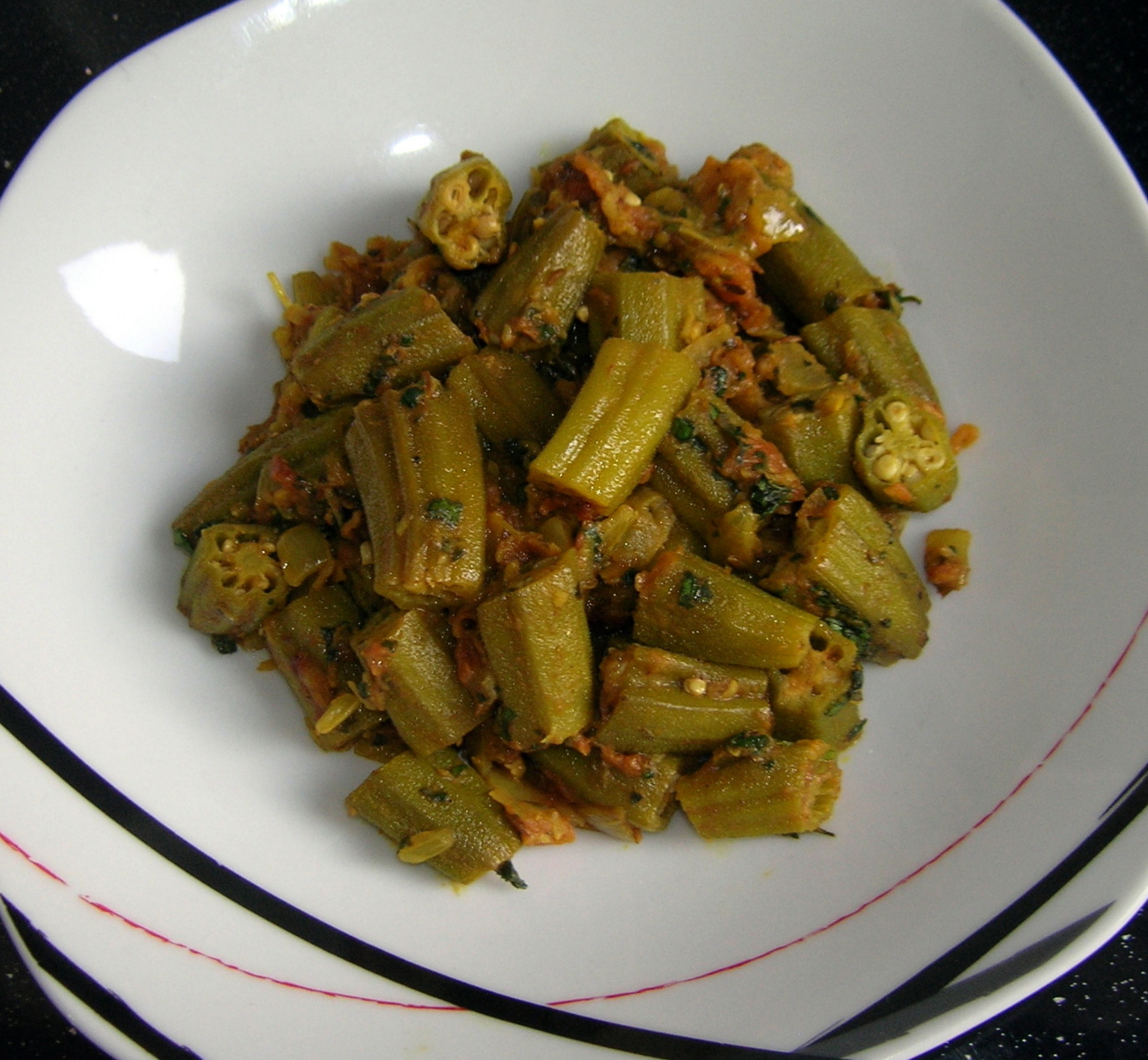 Bhindi masala okra al estilo panyab 3 4 5 for Como se cocina el seitan