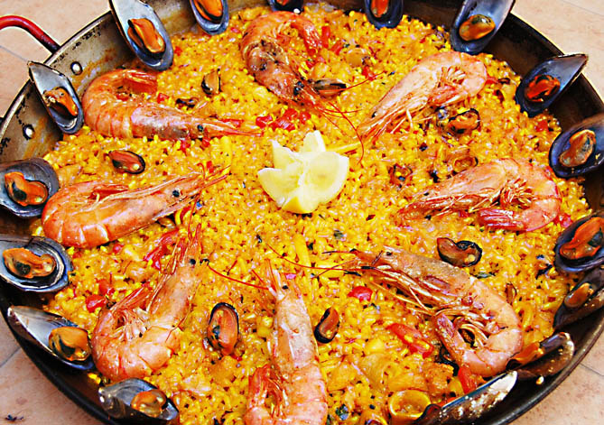 Receta de paella de pescado - Paella de pescado ...