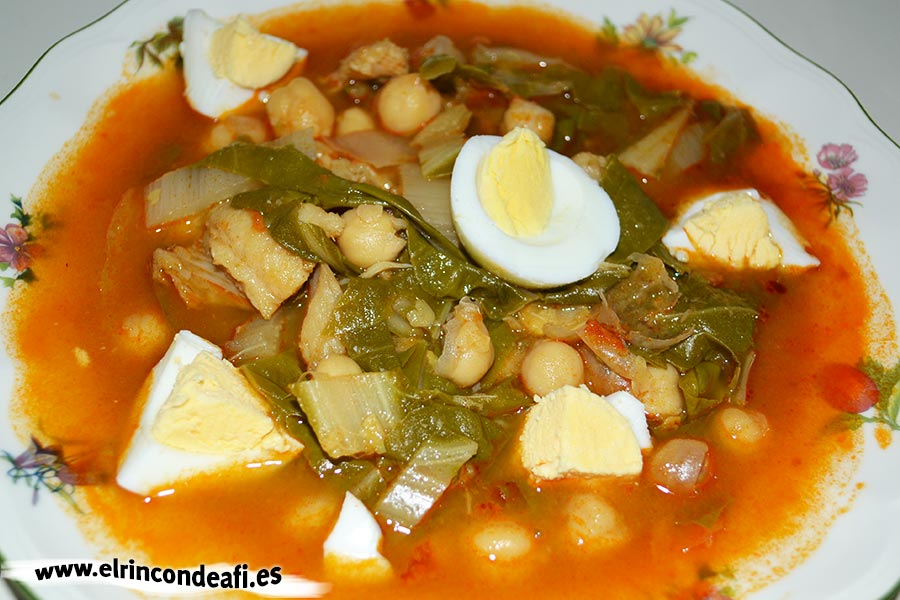 Potaje de bacalao con garbanzos 4 5 - Potaje garbanzos con arroz ...