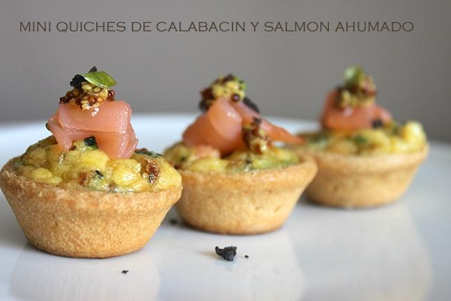 Mini quiches de calabac n y salm n ahumado 4 5 - Aperitivos de salmon ahumado ...