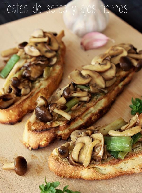 Incre bles recetas de setas shiitake - Setas cultivadas al ajillo ...